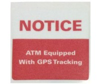 NOTICE: GPS Tracking ATM Decal