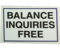 NOTICE: Balance Inquiries Free ATM Decal