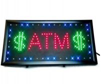 ATM LED Lighted Sign - Free Sign with ATM Order