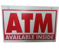 ATM Inside Coroplast ATM Sign, 18x24