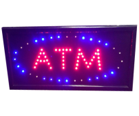 ATM LED Sign - Blue Red
