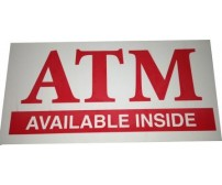 Decal ATM Available Sticker
